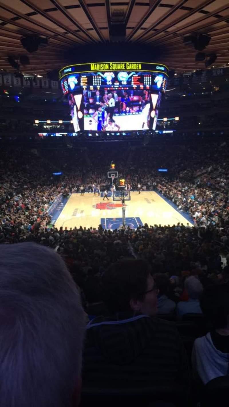 Vista sentada para Madison Square Garden Secção 112 Fila 22 Lugar 12
