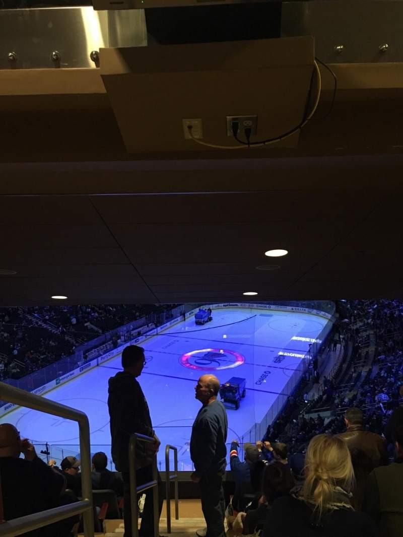 Vista sentada para Madison Square Garden Secção 418 Fila 7 Lugar 1