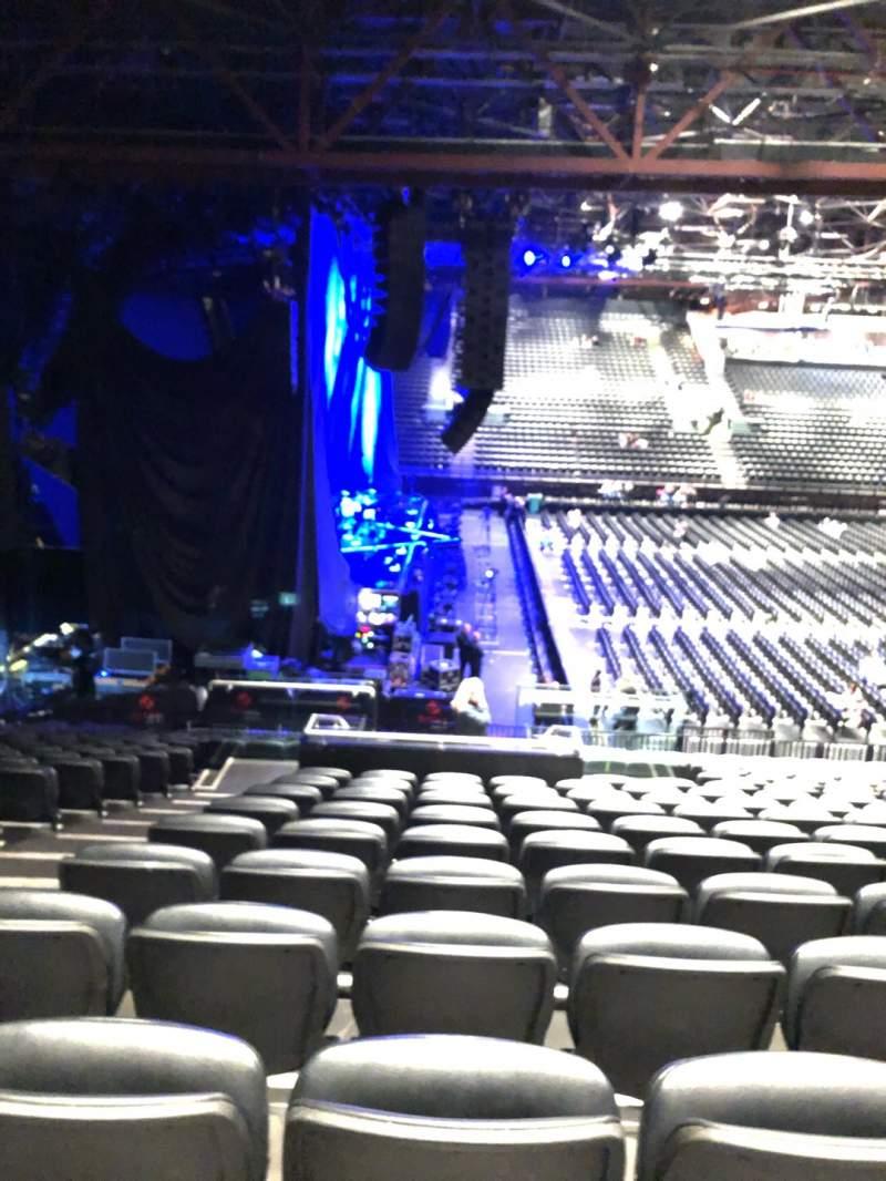Vista sentada para Resorts World Arena Secção 16 Fila W Lugar 516