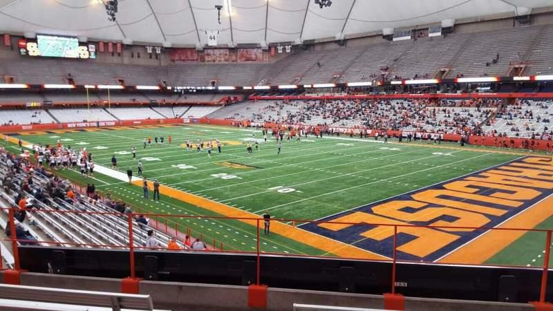 Vista sentada para Carrier Dome Secção 215 Fila e Lugar 101