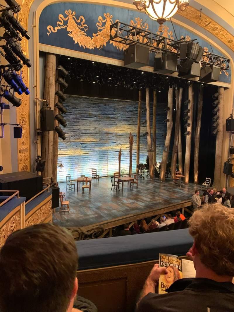 Vista sentada para Gerald Schoenfeld Theatre Secção Mezzanine L Fila B Lugar 19
