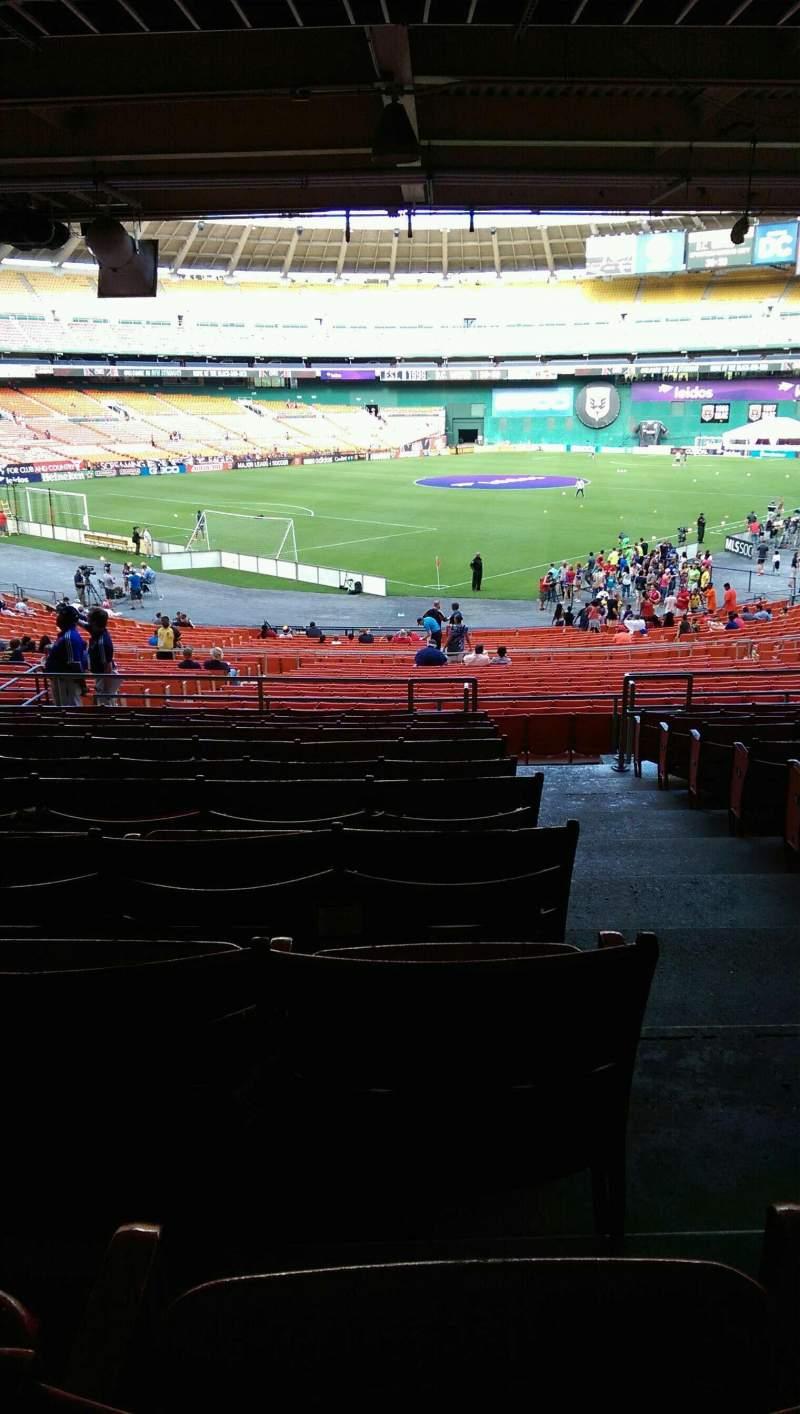 Vista sentada para RFK Stadium Secção 315 Fila 11 Lugar 1
