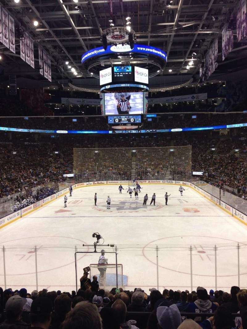 Vista sentada para Scotiabank Arena Secção 113 Fila 21 Lugar 15