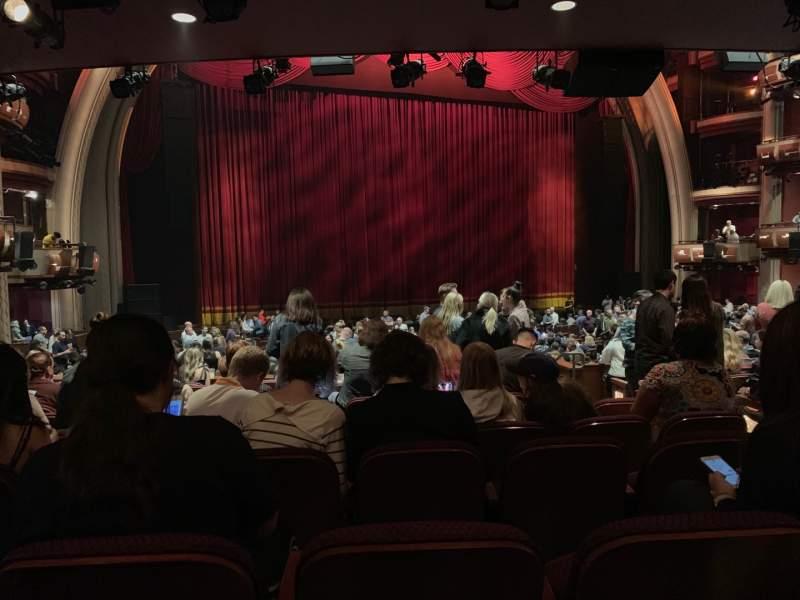 Vista sentada para Dolby Theatre Secção Parterre L Fila K Lugar 3
