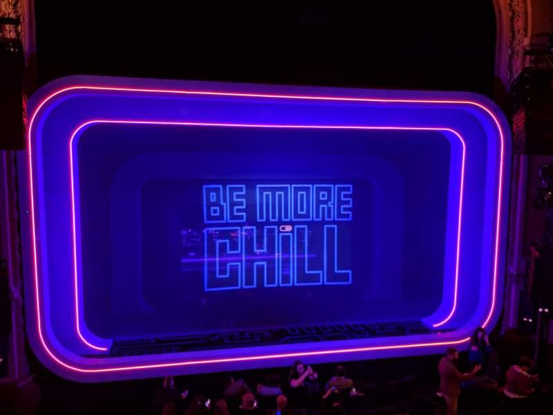 Vista sentada para Lyceum Theatre (Broadway) Secção Mezzanine C Fila A Lugar 111