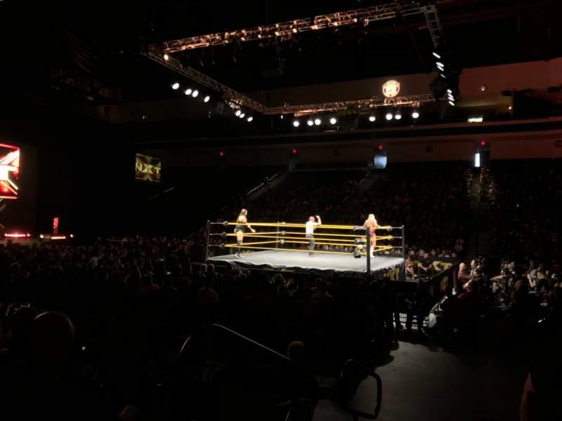 Vista sentada para Orleans Arena Secção 114 Fila EE Lugar 1