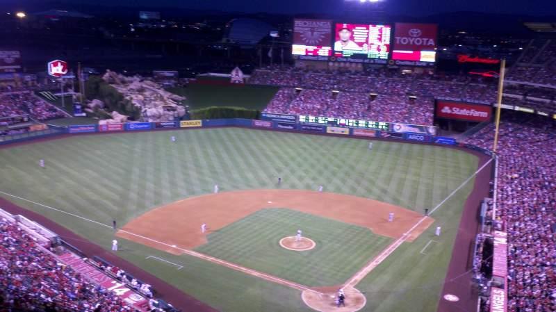 Vista sentada para Angel Stadium Secção 518