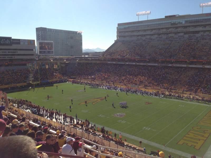 Vista sentada para Sun Devil Stadium Secção 235 Fila 10 Lugar 5