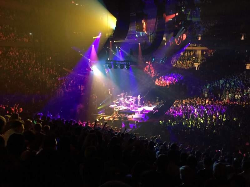 Vista sentada para Madison Square Garden Secção 116 Fila 22 Lugar 9