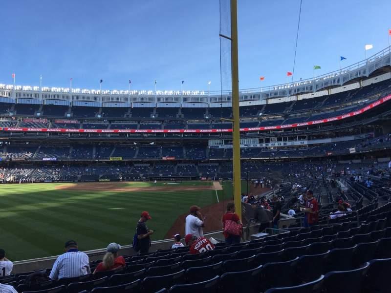 Vista sentada para Yankee Stadium Secção 132 Fila 10 Lugar 20