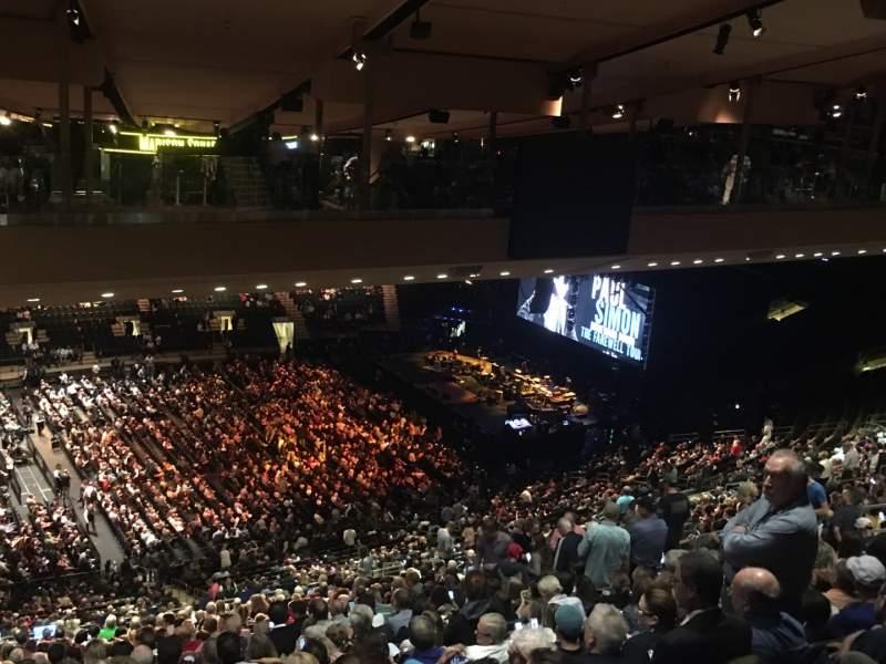 Vista sentada para Madison Square Garden Secção 210 Fila B25 Lugar 1
