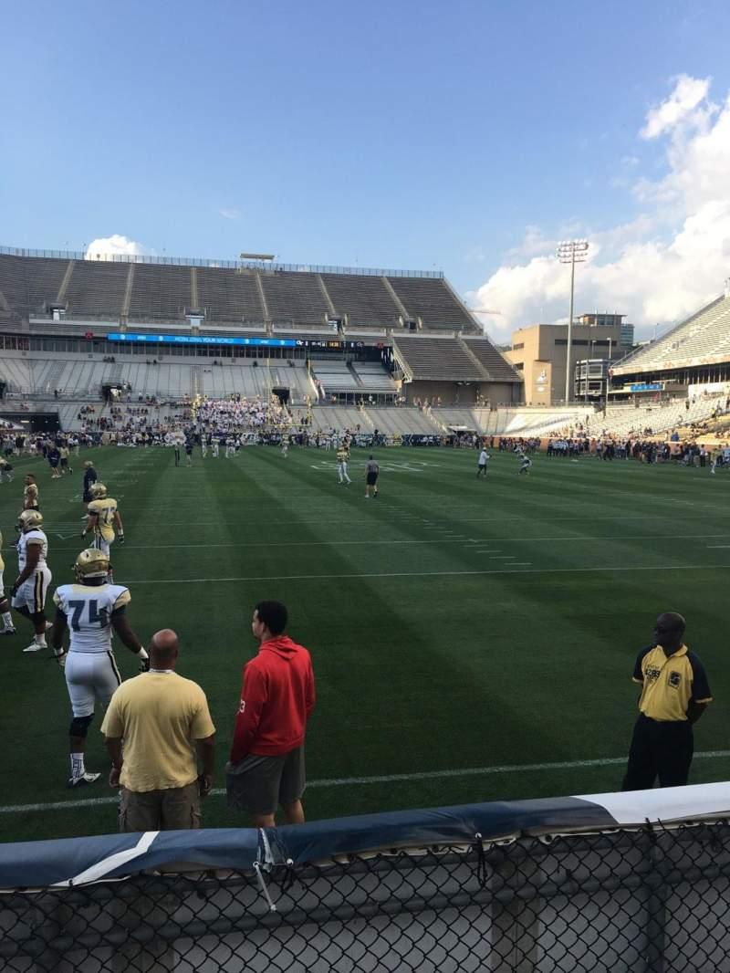 Vista sentada para Bobby Dodd Stadium Secção 135 Fila 4 Lugar 21