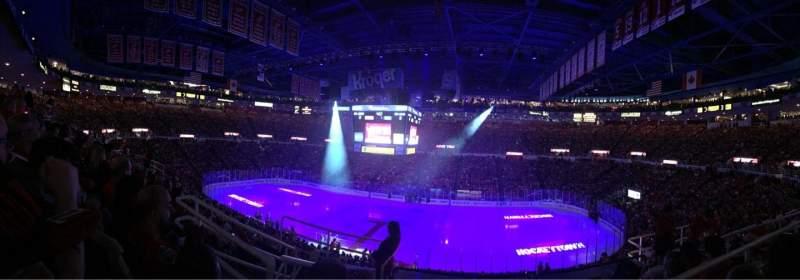 Vista sentada para Joe Louis Arena Secção 220 Fila 6 Lugar 10