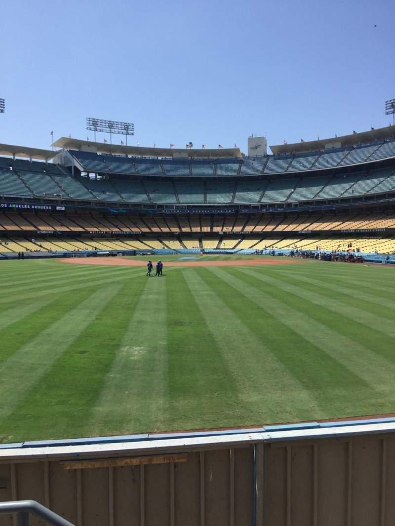 Vista sentada para Dodger Stadium Secção 309PL Fila B Lugar 18