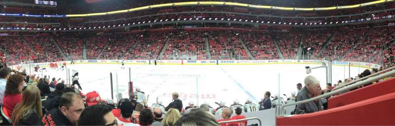 Vista sentada para Little Caesars Arena Secção 122 Fila 7 Lugar 1