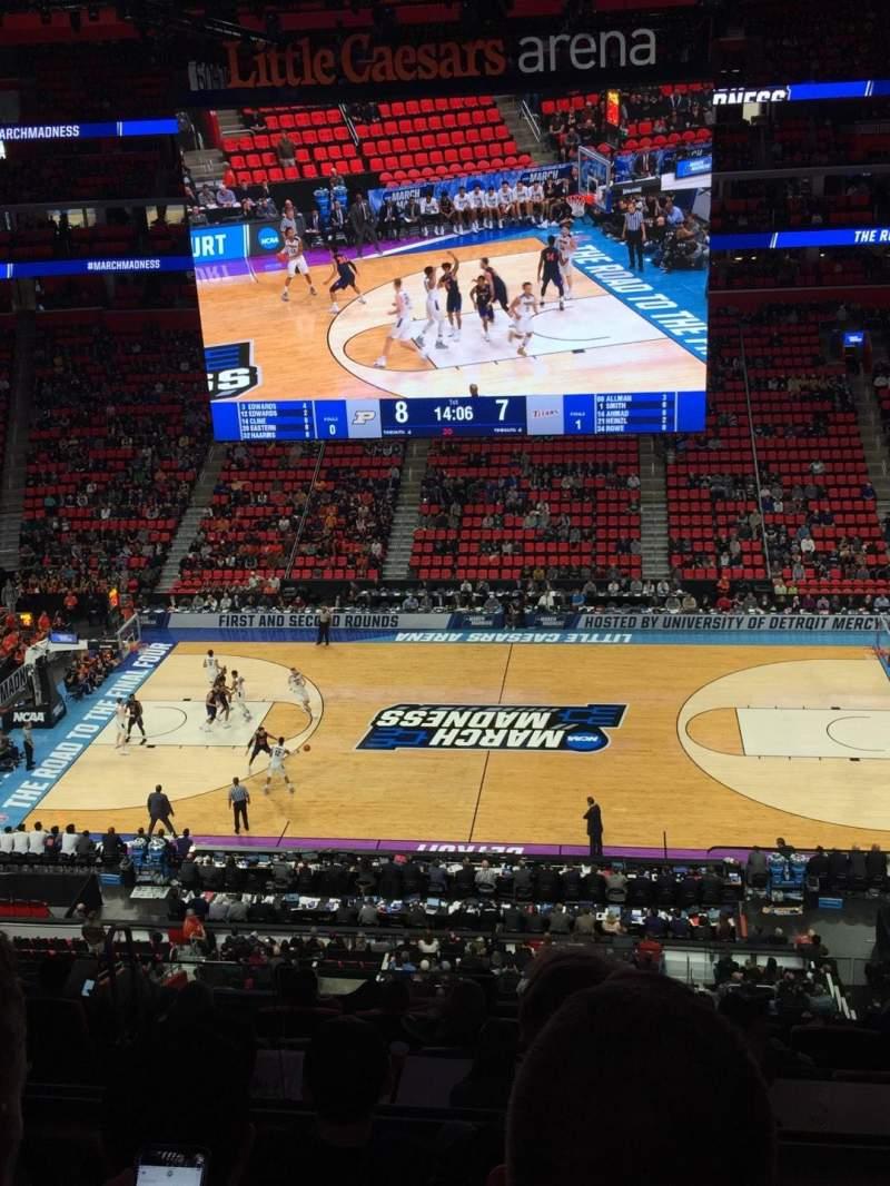Vista sentada para Little Caesars Arena Secção M28 Fila 4 Lugar 1