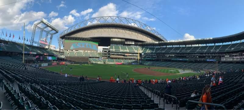 Vista sentada para T-Mobile Park Secção 143 Fila 29 Lugar 4