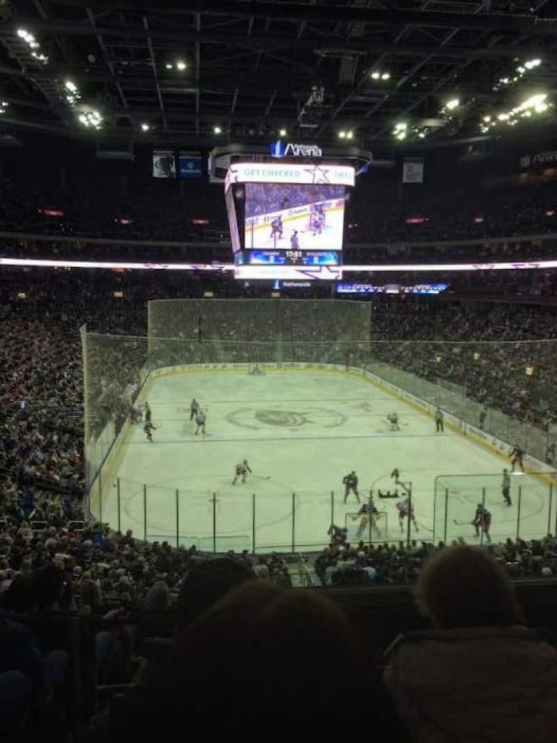Vista sentada para Nationwide Arena Secção 121 Fila KK Lugar 2