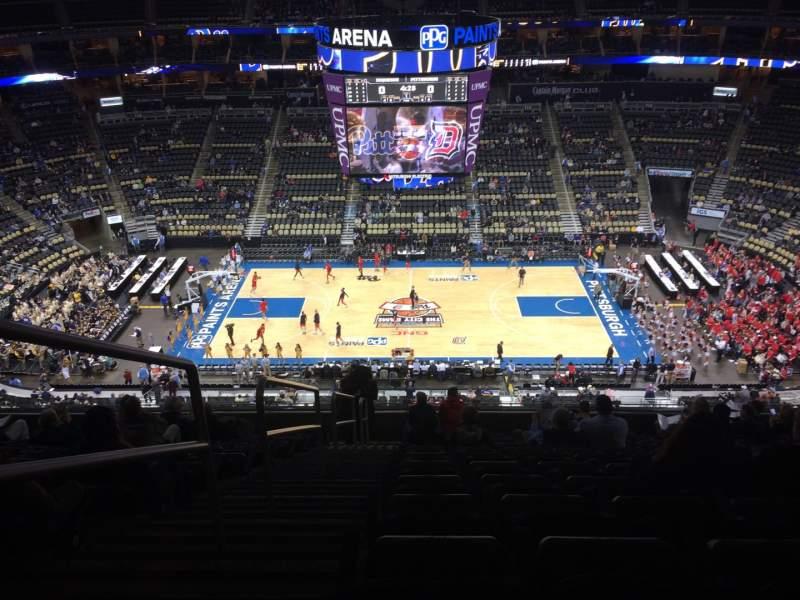Vista sentada para PPG Paints Arena Secção 202 Fila M Lugar 14