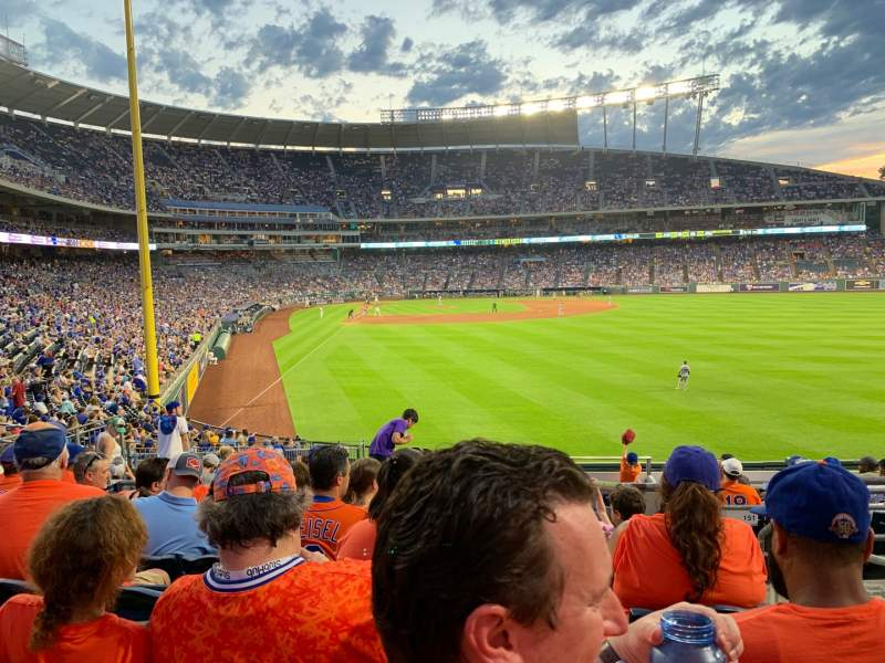 Vista sentada para Kauffman Stadium Secção 250 Fila GG Lugar 19