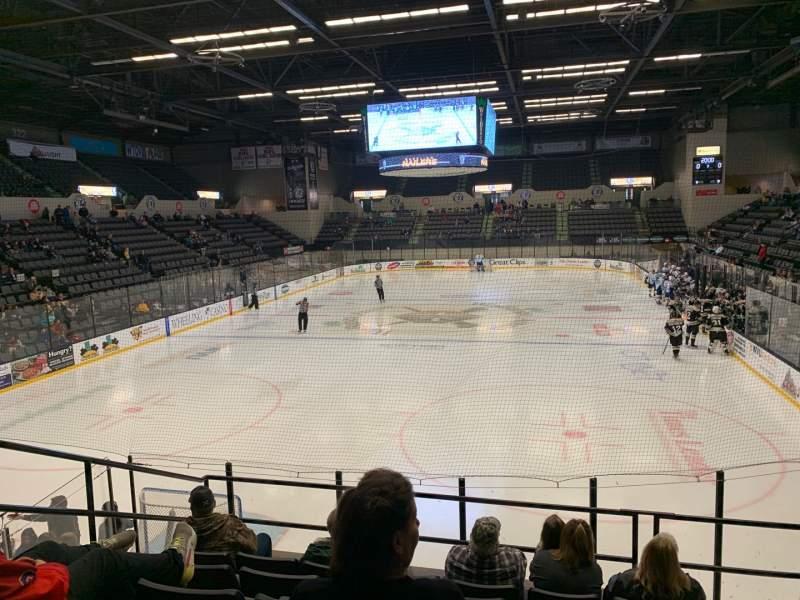 Vista sentada para WesBanco Arena Secção 214 Fila F Lugar 2