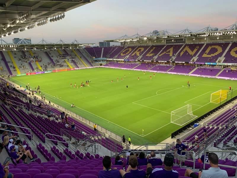 Vista sentada para Exploria Stadium Secção 109 Fila U Lugar 4