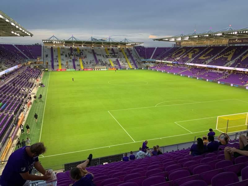 Vista sentada para Exploria Stadium Secção 106 Fila P Lugar 22
