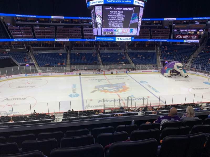 Vista sentada para Amway Center Secção Club D Fila 5 Lugar 15