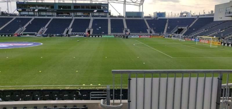 Vista sentada para Talen Energy Stadium Secção 125 Fila L Lugar 1