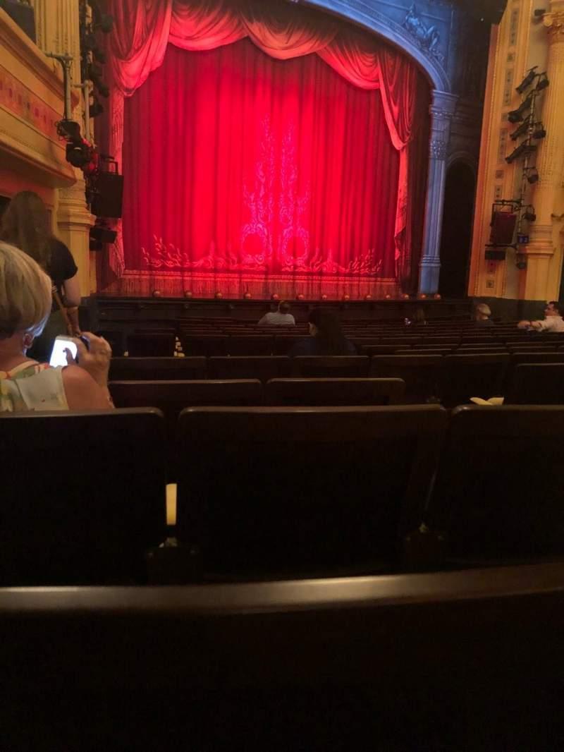 Vista sentada para Hudson Theatre Secção Orchestra L Fila P Lugar 7