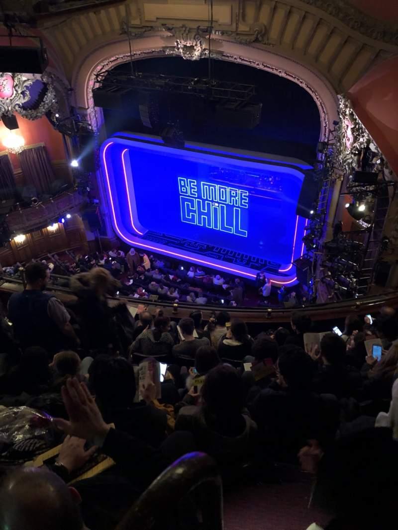Vista sentada para Lyceum Theatre (Broadway) Secção Balcony R Fila F Lugar 16