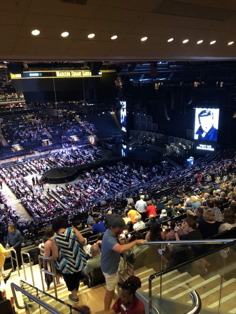 Vista sentada para Madison Square Garden Secção 209 Fila 12 Lugar 21