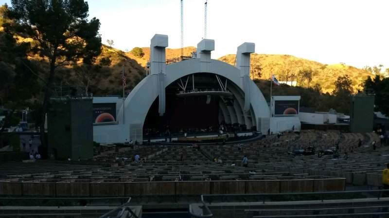 Vista sentada para Hollywood Bowl Secção K1 Fila 10 Lugar 2