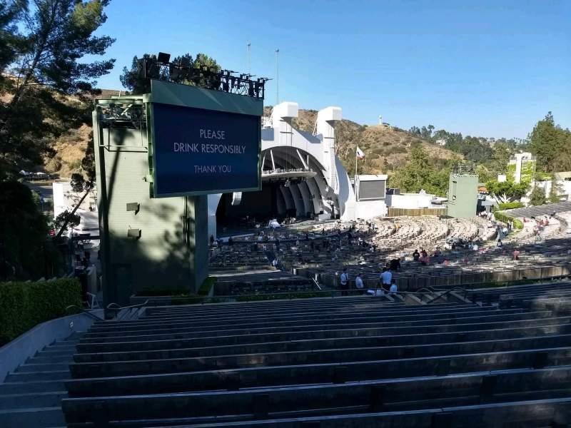 Vista sentada para Hollywood Bowl Secção K3 Fila 19 Lugar 29