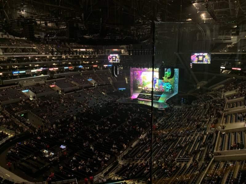 Vista sentada para Staples Center Secção 306 Fila 1 Lugar 1