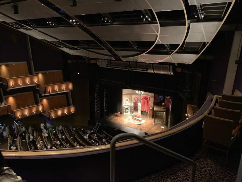 Vista sentada para Ahmanson Theatre Secção Balcony  Fila C Lugar 1