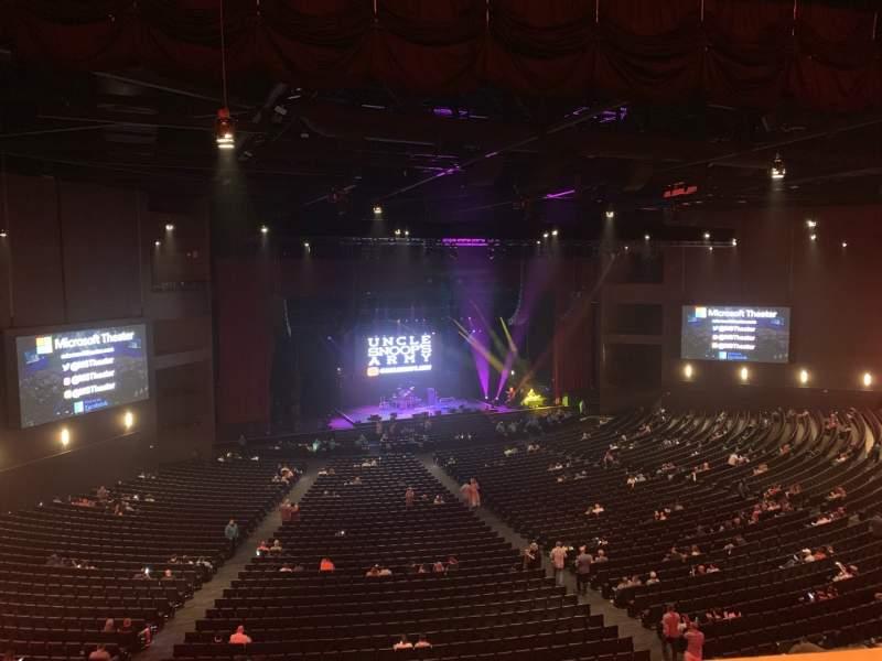 Vista sentada para Microsoft Theater Secção Lower Mezz Left Fila C Lugar 501