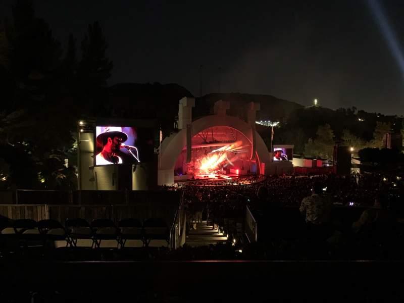 Vista sentada para Hollywood Bowl Secção P3 Fila A Lugar 29
