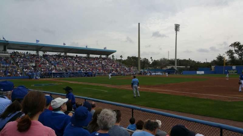 Vista sentada para Dunedin Stadium (Florida) Secção 101 Fila 4 Lugar 5