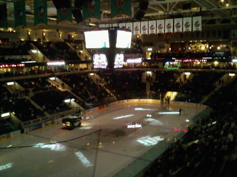 Vista sentada para Ralph Engelstad Arena Secção 310