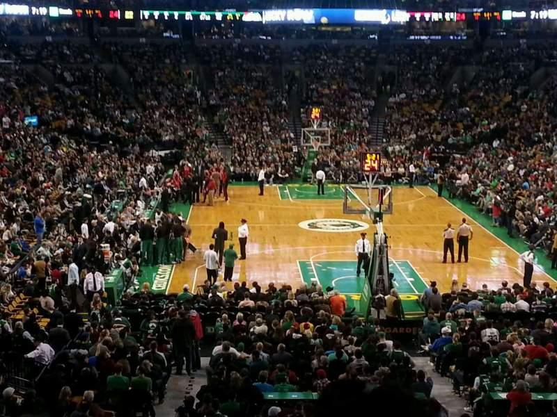 Vista sentada para TD Garden Secção AT&T Sports Deck Fila B Lugar 34