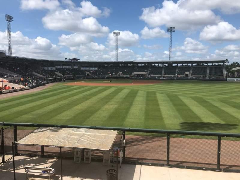 Vista sentada para Joker Marchant Stadium