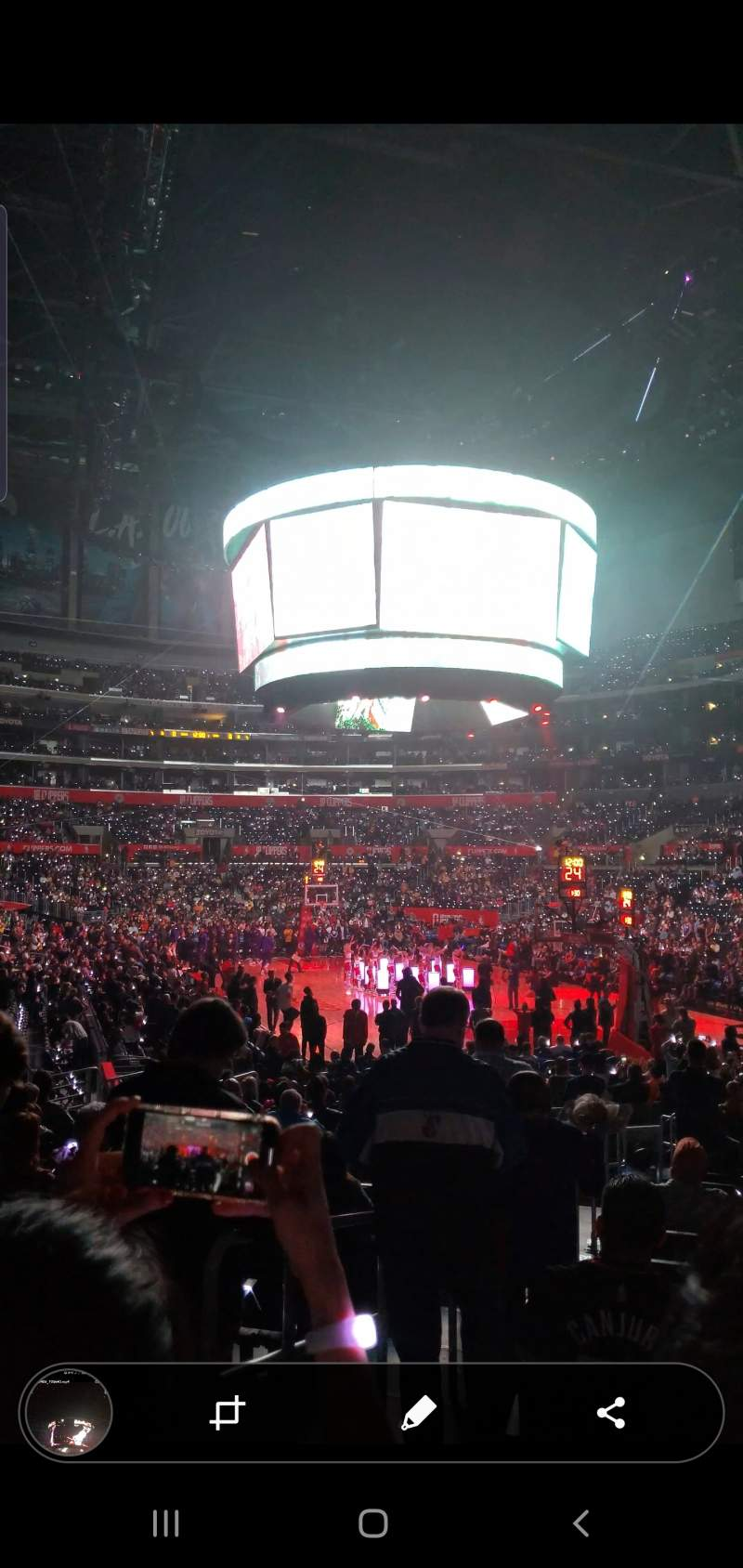 Vista sentada para staples center Secção 116 Fila 16 Lugar 31