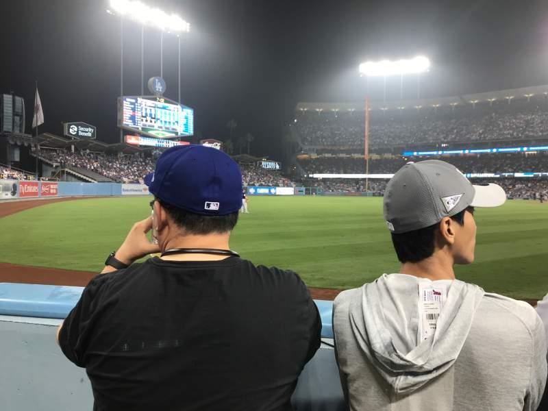 Vista sentada para Dodger Stadium Secção 49FD Fila A Lugar 13