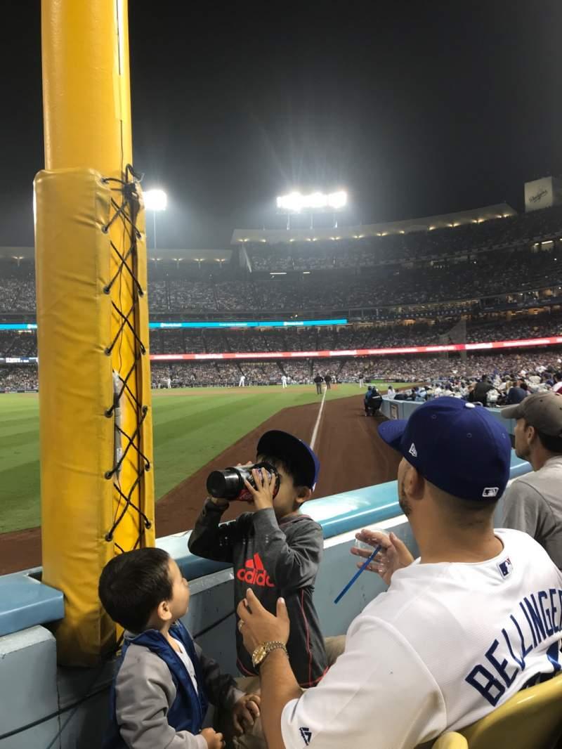 Vista sentada para Dodger Stadium Secção 49FD Fila A Lugar 12