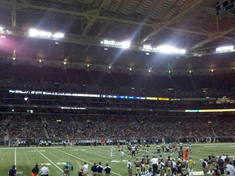 Vista sentada para The Dome at America's Center Secção 115 Fila I Lugar 21