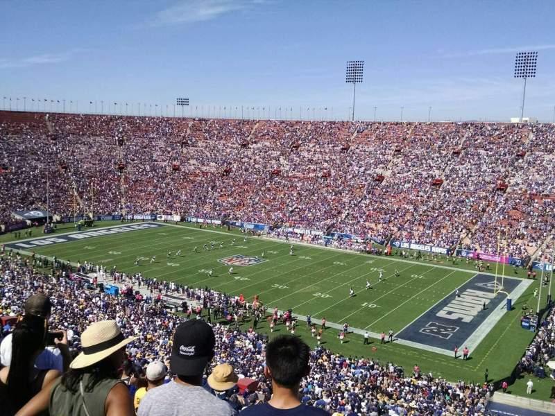 Vista sentada para Los Angeles Memorial Coliseum Secção 3L Fila 80 Lugar 13