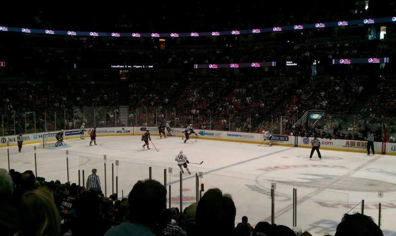 Vista sentada para Honda Center Secção 221 Fila Q Lugar 10
