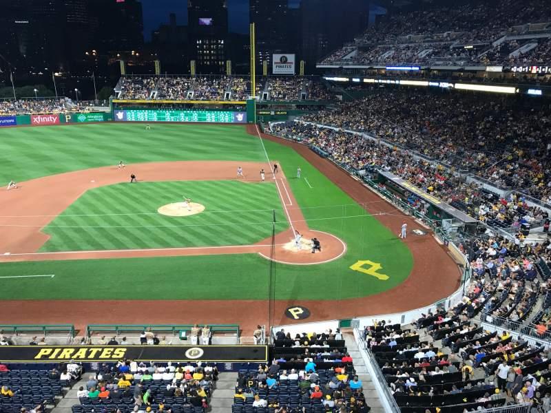 Vista sentada para PNC Park Secção 221 Fila A Lugar 5