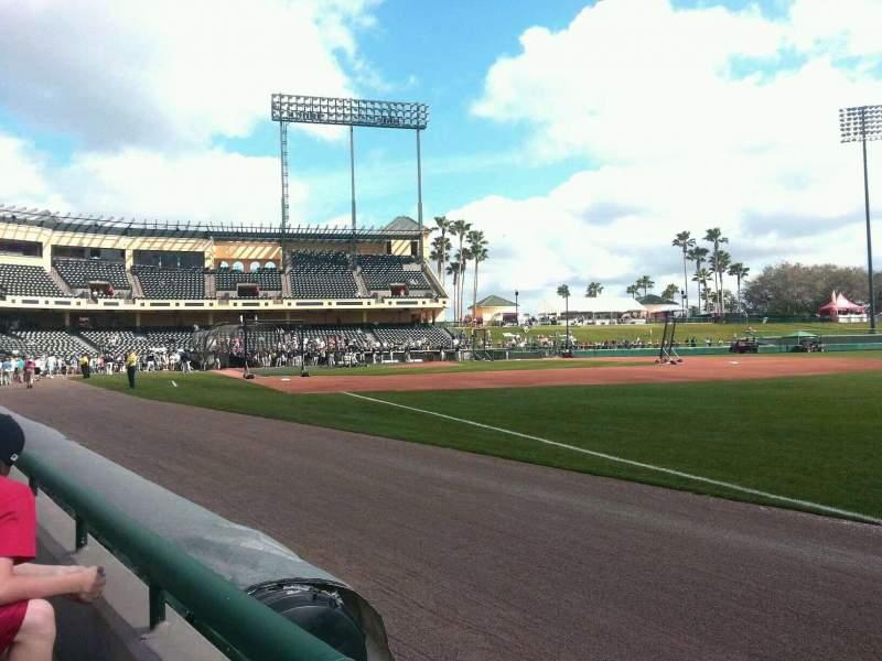 Vista sentada para Champion Stadium Secção 103 Fila 1 Lugar 1